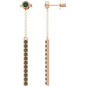 Linear Bezel & Bar Earrings
