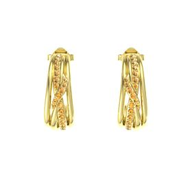 14K Yellow Gold Earrings with Citrine