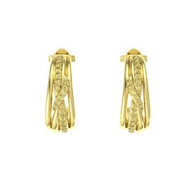 14K Yellow Gold Earrings with Yellow Sapphire