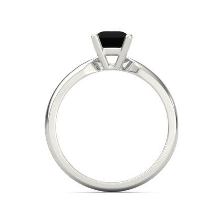 emerald black onyx palladium ring emerald cut ara ring