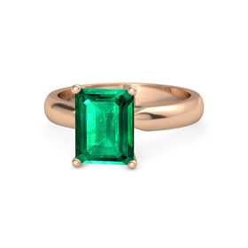 Emerald Emerald 18K Rose Gold Ring