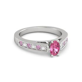 Oval-Cut Flora Ring (6mm gem)