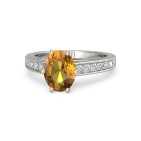 Oval-Cut Flora Ring (9mm gem)