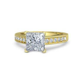 Princess Diamond 14K Yellow Gold Ring with Diamond