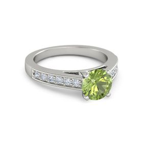 Round-Cut Flora Ring (7mm gem)