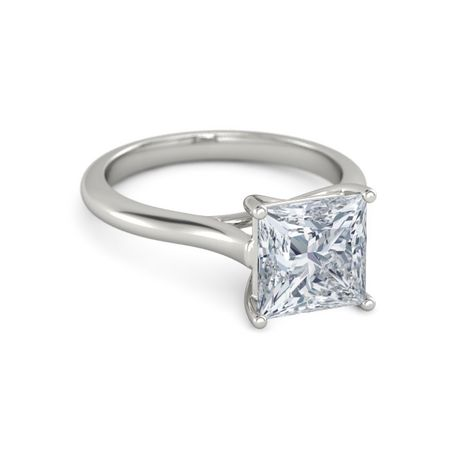 Ivy Princess Cut Ring 8mm Gem Princess Diamond Platinum Ring