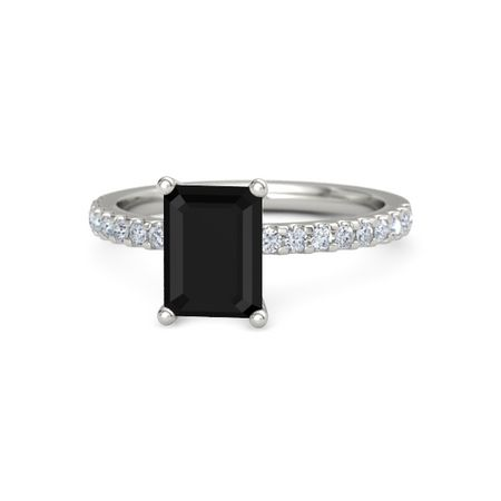 Emerald-Cut Lara Ring (8mm gem)