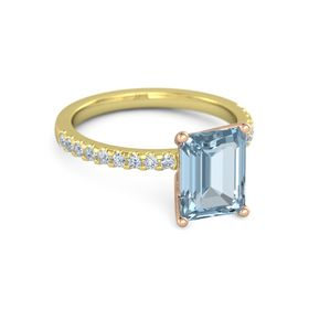 Emerald-Cut Lara Ring (9mm gem)