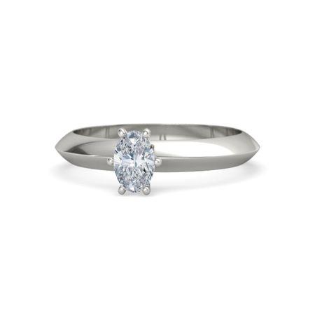 bf2b9d1c63125 Oval-Cut Lisa Ring (6mm gem) - Oval Diamond 14K White Gold Ring