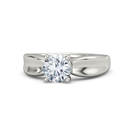 Round Diamond 18K White Gold Ring  b0e772cd2496d