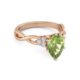Rose Gold Peridot Engagement Rings Gemvara