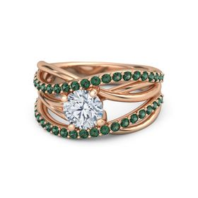 Wrap Solitaire Pave Ring