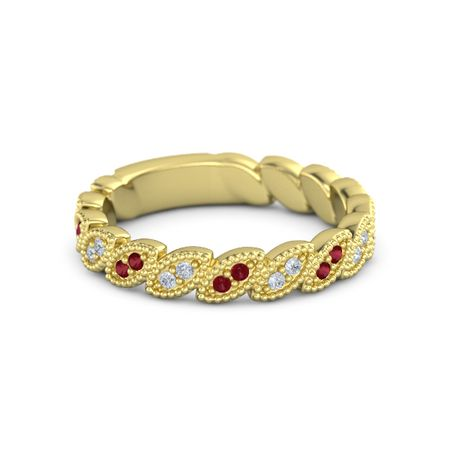 Eyelet Eternity Band