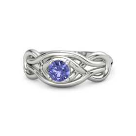 Round Tanzanite 18K White Gold Ring