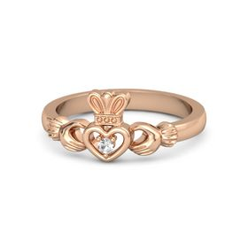 Round Rock Crystal 14K Rose Gold Ring