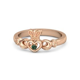 Round Alexandrite 14K Rose Gold Ring