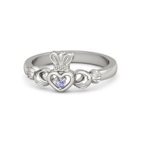 Round Tanzanite Palladium Ring