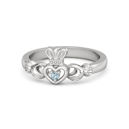 large from birthstone rings claddagh bands march ireland ring product