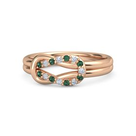 14K Rose Gold Ring with Alexandrite and Diamond