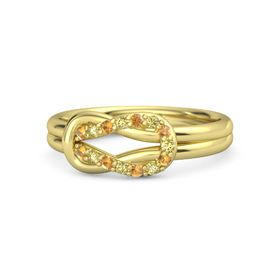 14K Yellow Gold Ring with Citrine and Yellow Sapphire