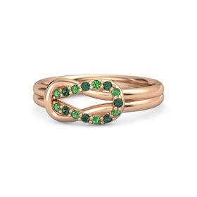 18K Rose Gold Ring with Emerald and Alexandrite