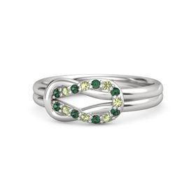 Sterling Silver Ring with Alexandrite & Peridot