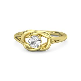 Round Rock Crystal 14K Yellow Gold Ring