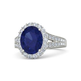 Oval Split Shank Halo Ring