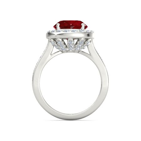 Moments Oval Halo Ring