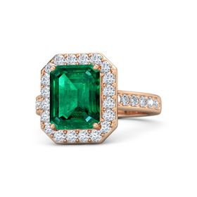 Moments Emerald Cut Halo Ring