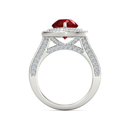 Moments Pear Shaped Double Halo Ring