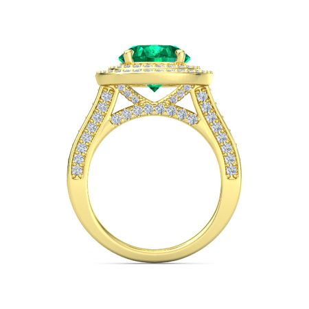 Moments Oval Double Halo Ring