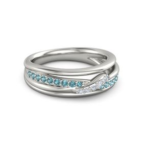 Wrap Pave Twist Ring