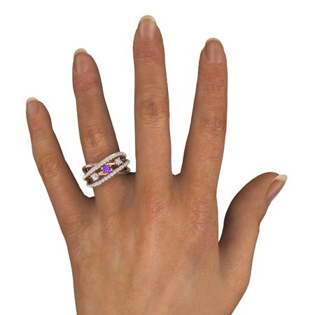 Wrap Three-Stone Ring