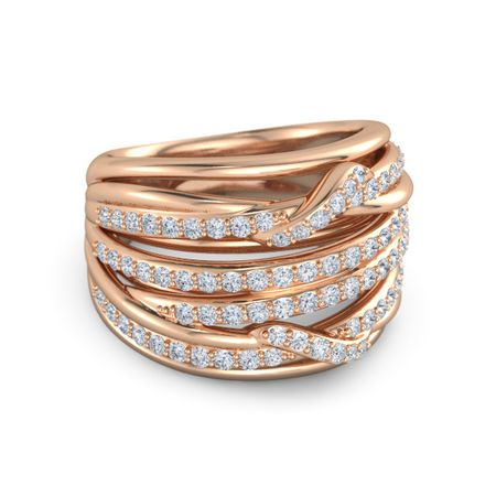 Wrap Large Pave Twist Ring