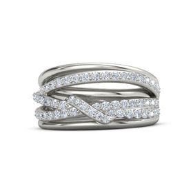 Wrap Small Pave Twist Ring
