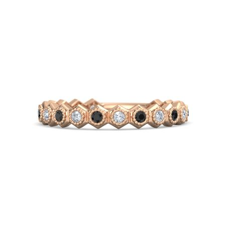 Twinkly Honeycomb Stackable Ring