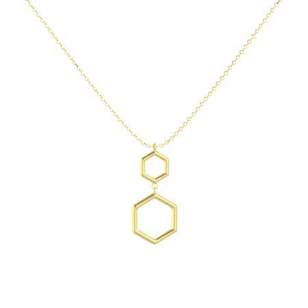 14K Yellow Gold Geometric Pendant
