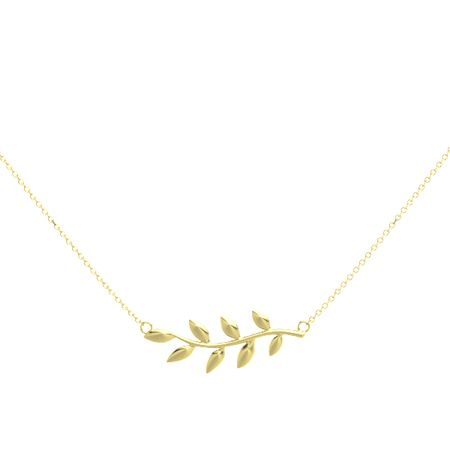 leaf and sterling design brass home vine silver fs inch necklace ruler product