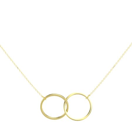 14k yellow gold pendant 14k yellow gold double circle necklace 14k yellow gold double circle necklace aloadofball Image collections