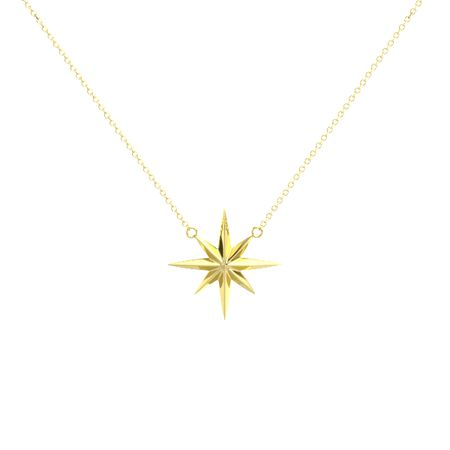 14k yellow gold pendant 14k yellow gold north star pendant gemvara 14k yellow gold north star pendant mozeypictures Gallery