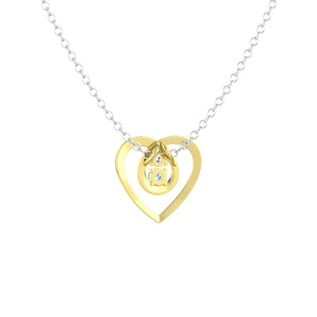 Eternal Heart Pendant (2 stones)