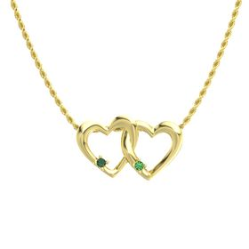 14K Yellow Gold Pendant with Alexandrite and Emerald