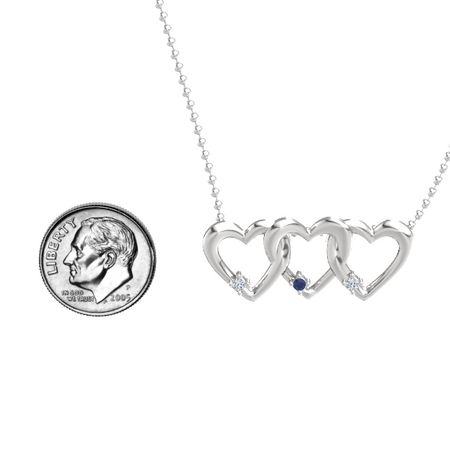 Triple Linked Hearts Pendant