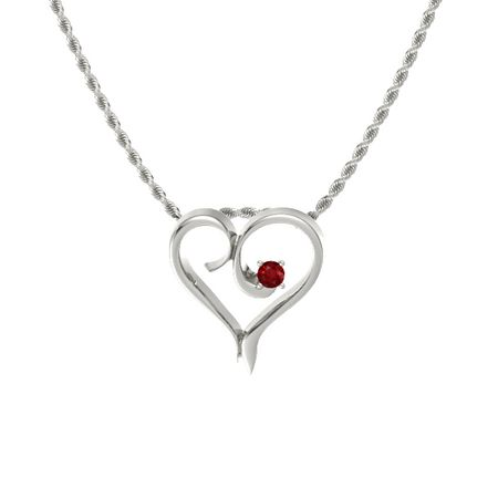 Enclosed Heart Pendant