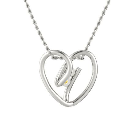 Entwined Heart Pendant (2 stones)