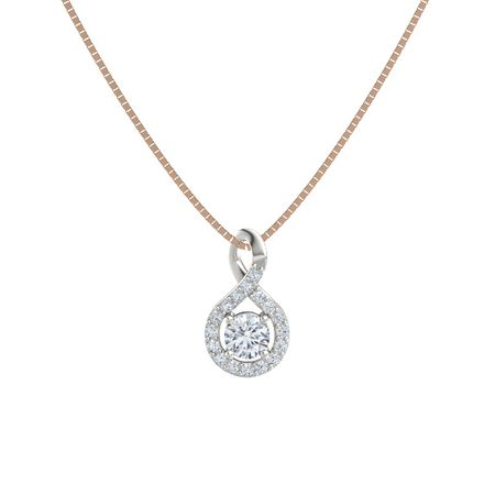 14k white gold pendant with