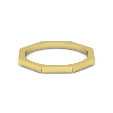 Ridged Octagon Ring