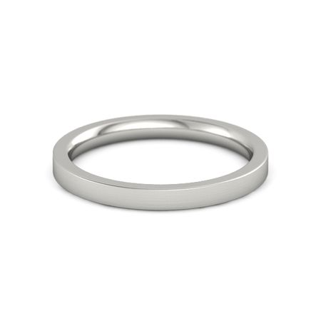 Brushed Finish Flat Comfort Fit Band (2.5mm Band)