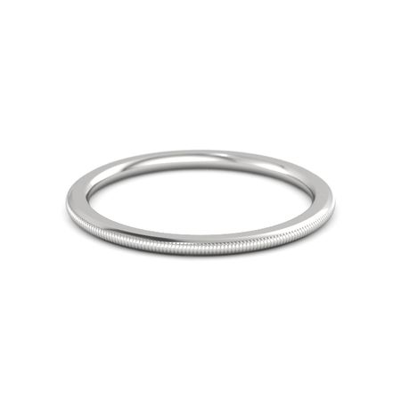 Thin Milgrain Stacking Ring (1.5mm Band)